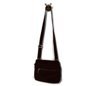 HOBO INTERNATIONAL BAG CROSSBODY BROWN NYLON